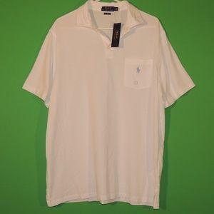 Polo Ralph Lauren Mens L White Classic Polo NEW